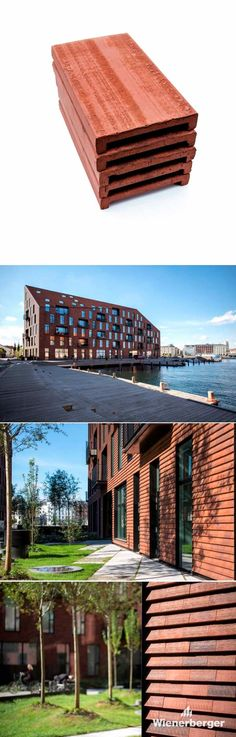 """Wienerberger Urban, the new clay cladding tile. It's a high-quality clay tile made to cover roof & façade. The product innovation is the result of a fruitful collaboration between Wienerberger and the young Danish architectural studio COBE, which was looking for a clay building material for its project """"Krøyers Plads"""" in Copenhagen, Denmark."""