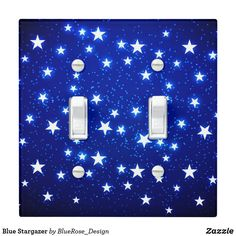 Blue Stargazer Light Switch Cover Holiday Cards, Christmas Cards, Stargazer, Custom Lighting, Light Switch Covers, Christmas Card Holders, Light Up, Keep It Cleaner, Colorful Backgrounds