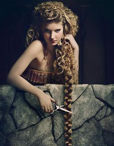 she would not wait for a witch or a prince to decide her fate. she'd use those shears herself