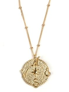 (5.28.14) Sophia & Chloe gold compass necklace