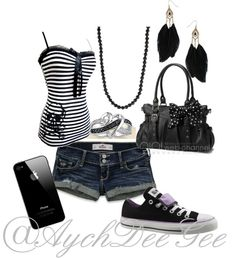 """Black"" by aychdeegee ❤ liked on Polyvore"