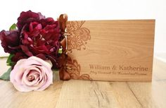 Rustic Lace Personalized Wedding Guest Book