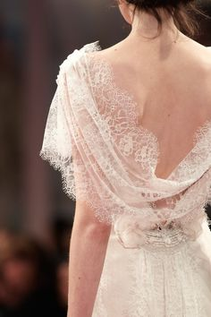 'Sonnet' wedding gown - Claire Pettibone 'An Earthly Paradise' Collection 2013 FASHION SHOW - Photography by Collective Edit