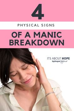 Skin issues and tinnitus are among physical signs of a possible manic breakdown on the way–recognizing them can help you be prepared. Bipolar Signs, Signs Of Bipolar Depression, Signs Of Anxiety, Overcoming Depression, Nervous Breakdown Symptoms, Mental Breakdown, Mental Health Illnesses, Mental Health