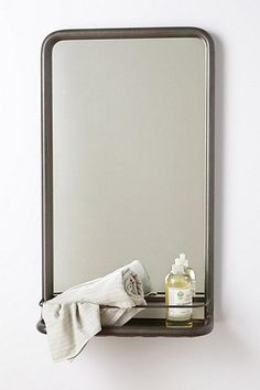 DETAILS Bring Classy Style To Your Home Decor With This Wide Metal Mirrorfeaturing A Shelf For Keeping Items And Hence Ideal Using In Bathroom