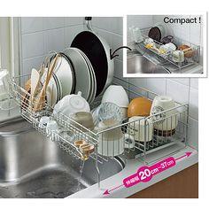 Kitchen Room Design, Modern Kitchen Design, Interior Design Kitchen, Kitchen Decor, Kitchen Storage Hacks, Small Kitchen Organization, Ikea Kitchen Sink, Dish Organization, Pantry Design