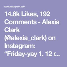 "14.8k Likes, 192 Comments - Alexia Clark (@alexia_clark) on Instagram: ""Friday-yay 1. 12 reps each side 2. 12 reps each side 3. 15 reps each side 4. 15 reps each side…"""