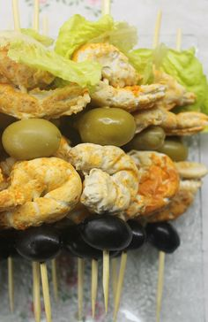 Quick & Healthy Low Carb Snacks - Shrimps On Sticks Recipe -