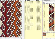 Rams horn 30 tarjetas, 4 colores, repite dibujo cada 8 movimientos