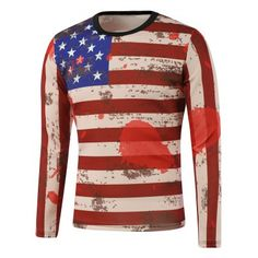Prezzi e Sconti: #American flag print splatter paint sweatshirt Instock  ad Euro 17.15 in #Red #Mens clothing mens hoodies