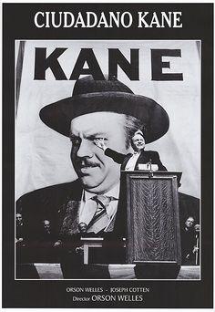 Citizen Kane - 1941. Spanish poster - superior to the others. Cuidadano Kane.
