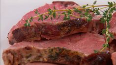Great for holiday dinner or for passing at holiday parties! Roasted Prime Rib with Thyme and Marsala #Christmas