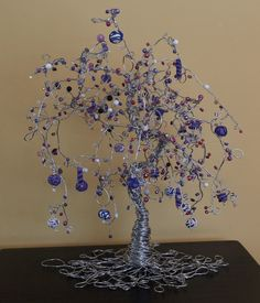 Beaded Wire Tree in Mulberry Repose. $115.00, via Etsy.