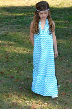 Custom girls  36 Blue Skies CHEVRON ruffle by MyOnlySunshine01, $42.99