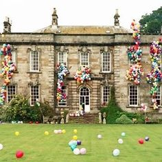 FUN party idea for even the most normal of houses: cover the front in balloons so it looks like there's so much fun going on, balloons are overflowing from the windows and roof.