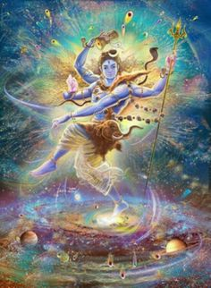 Shiva is the Lord of the Sabbath. Shiva is Lord of Yoga, Loosing the Seven Seals.Shiva meant Seven throughout the ancient world. Arte Krishna, Arte Shiva, Shiva Art, Shiva Shakti, Shiva Yoga, Hindu Art, Orisha, Art Visionnaire, Psychedelic Art