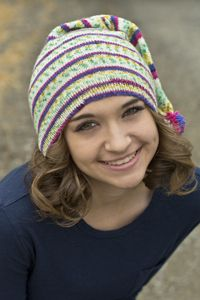 Cascade Yarns perky cap. Good stashbuster pattern. Free.