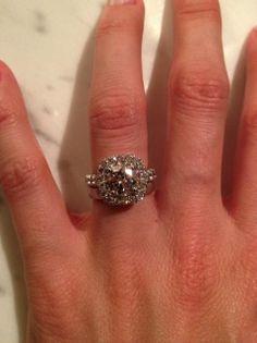 Ritani Cushion Halo Engagement Ring #RitaniPinterest