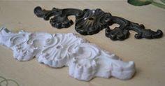 How to Make Ornamental Plaster Furniture Appliques .............. #DIY #applique…