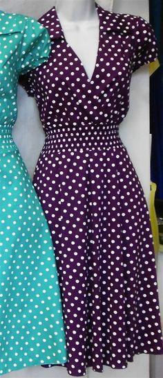 $48 PURPLE Vintage Collar Pin Up Dress-Just Restocked! Plus Size!