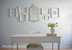 console table and wall display idea