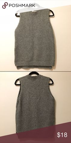 Glamorous Sweater Knit Vest Gray knit vest - great for layering! Glamorous Other