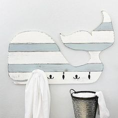 Create This Project With Americana Decor® Chalky Finish™ U2014 Carry A Nautical  Theme Into The Bathroom With This Whale Of A Towel Rack Made With Americana  ...