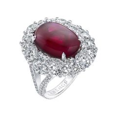 Viera ruby and diamond ring by Faberge