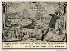 Original-Werbung/Inserat/ Anzeige 1906 : BILZ NATUR-HEILANSTALT DRESDEN-RADEBEUL ca. 85 x 100 mm