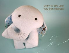 learn to sew   elephant
