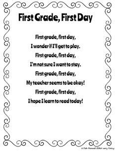 Back to School Freebie: Poem Printable and Poem Cloze