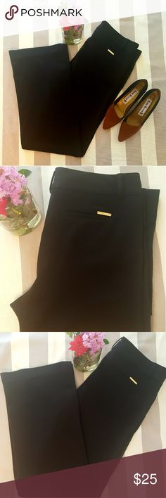 Michael Kors Black dress pants! Size 10 These are in like new condition! Great for work or a night out! Very versatile! 2 front pockets and 2 fake back pockets. Size is 10. Made with 63% Shell, 33% Polyester, 4% Rayon.  Measurements  Waist- 18 1/2 Inches  Length- 43 1/2 Inches  Inseam- 33 1/2 inches  Front rise- 10 1/2 Inches Michael Kors Pants