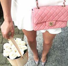 Pink Chanel Classic Flap bag