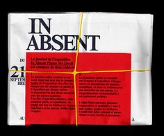 Publikation zur Gruppenausstellung «In Absent Places We Dwell», Piano Nobile, Genf; 54 Seiten, 475 x 640 mm, 2012
