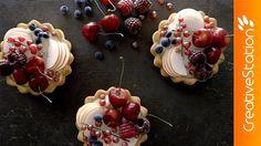 Desserts - Berry Tarts - 3D Speed art (#Blender)   CreativeStation