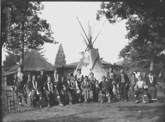 """The Omaha Indian Heritage Project. """"A group of Omaha on the grounds of the Paris zoo near the Musee de L'Homme. 1883 Nebraska State Historical Society Photograph Collections Roland Bonaparte"""