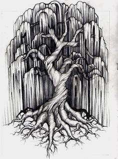 Willow Tree Tattoo by aluc23.deviantart.com on @DeviantArt