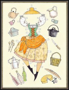 A lovely paper doll by Donald Hendricks.  Unfortunately, this artist passed away earlier this year.  This doll was from his website Le...