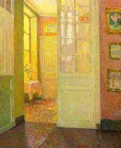 Henri Le Sidaner ~ Intérieur, lumière de la fenêtre