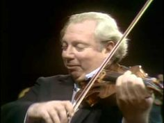 Isaac Stern plays Mozart KV 261 Adagio for violin & orchestra - with Ale...