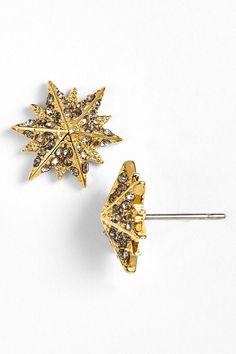 Micro Pave Star Stud Earrings