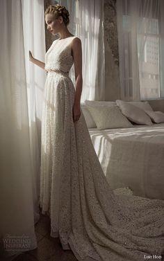 lihi hod wedding dresses 2014 julie m sleeveless lace top and skirt