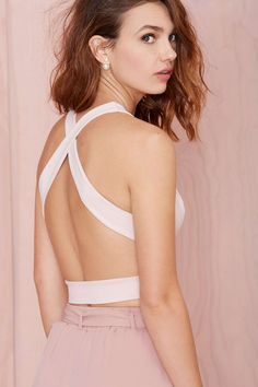 Plunge In Crop Top | Shop Clothes at Nasty Gal