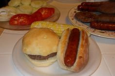 homemade hamburger/hotdog buns