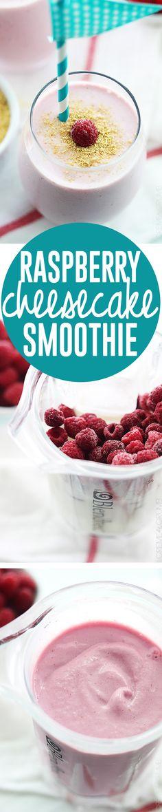 Raspberry Cheesecake Smoothie | Creme de la Crumb