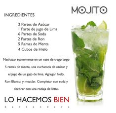 Mojito - seems legit. In Spanish. For the deck.