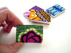 Miniature Note books covered with African wax print by ChilliPeppa, £3.80