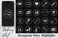 Silver Instagram Story Icons   #Instagram Icons, #Instagram Highlights, #Instagram Silver Icons, #Insta, #Instagram Template,