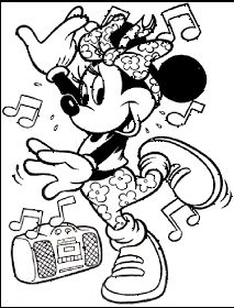 Disney Coloring Pages brings you these cute images of Minnie Mouse to print and color...