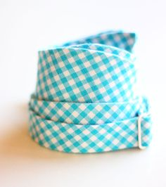 The Beau men's turquoise gingham freestyle by thebelleandthebeau, $35.00